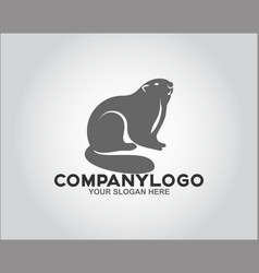 face rodent logo vector image
