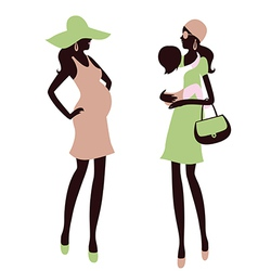 Fashionable maternity vector