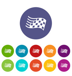 finish flag icons set color vector image