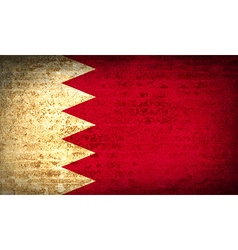 Flags Bahrain with dirty paper texture vector image