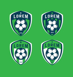 football logo badges set vector image