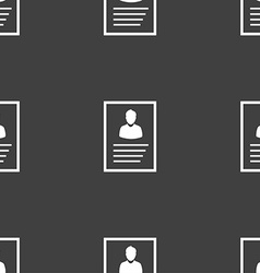 form icon sign Seamless pattern on a gray vector image