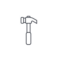 Hammer thin line icon linear symbol vector