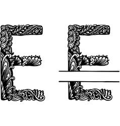 Hand drawn letter e vector