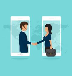 Handshake business partners good deal concept vector