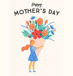 happy mothers day girl vector image