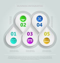 infographic for e-Business vector image