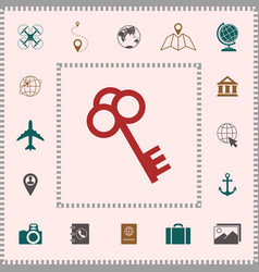 key icon symbol elements for your design vector image