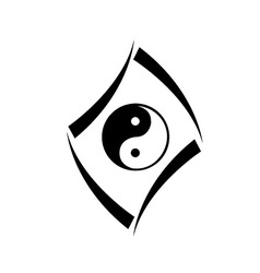 Logo concept with yin and yang symbol vector