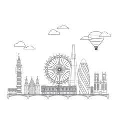london skyline line art 2 vector image
