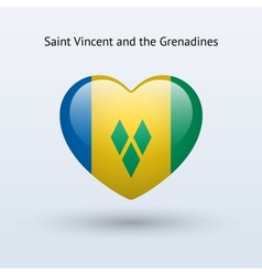 Love Saint Vincent and the Grenadines symbol Heart vector