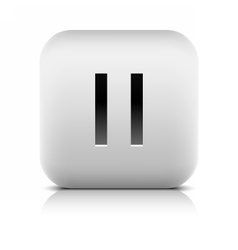Media player icon with pause sign vector