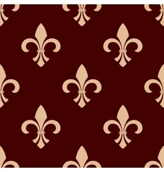 Medieval brown royal fleur-de-lis pattern vector image