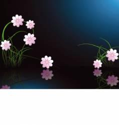 Midnight flower background vector