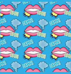 Mouth patch with cloud and message background vector