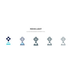 movie light icon in different style two colored vector image