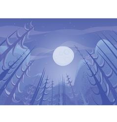 nature night landscape vector image