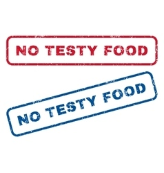 No Testy Food Rubber Stamps vector image