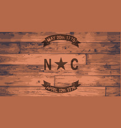 North carolina flag brand vector