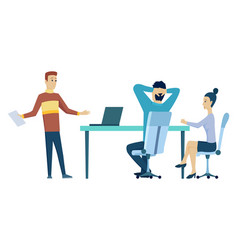 office meeting teamwork at workplace business vector image
