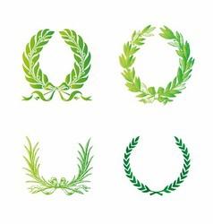 Ornate Wreath Set vector image