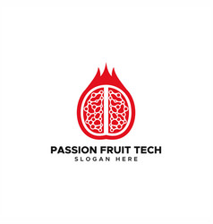 passion fruit technology logo vector image