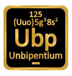 Periodic table element unbipentium icon vector