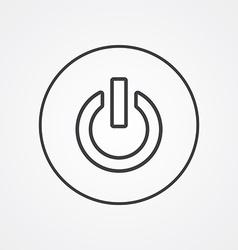 power on outline symbol dark on white background vector image