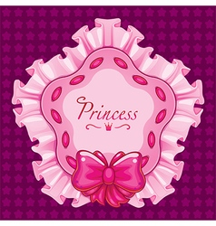 Princess star pillow pink vector