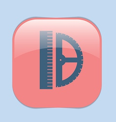 ruler and protractor characters geometry vector image