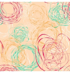 Seamless pattern with abstract funny scribbles vector image
