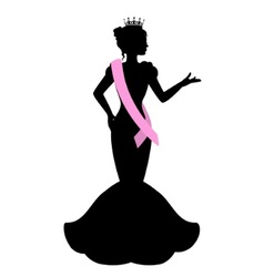 silhouette of a beauty queen vector image