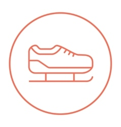Skate line icon vector