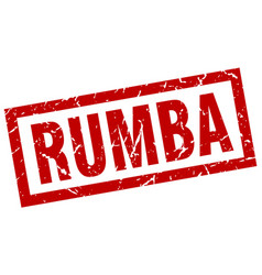 square grunge red rumba stamp vector image