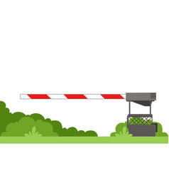 Striped automatic barrier prohibits traffic vector
