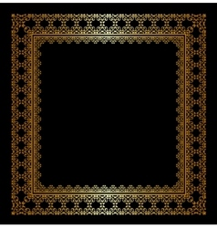 Stylish golden frame vector