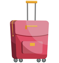 suitcase for women for storing clothes pink vector image
