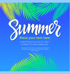 Summer - leaflet template with brush vector