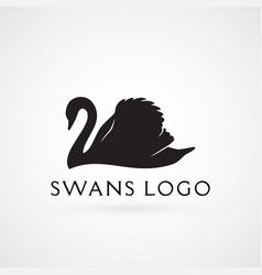 Swan logo sign emblem-04 vector