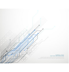 Technology network lines background vector