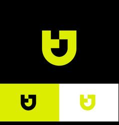 tj logo yellow monogram original symbol vector image