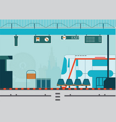 train station platform of subway or sky train vector image