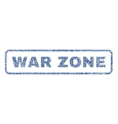 war zone textile stamp vector image
