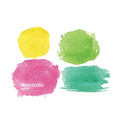 Watercolor color splash vector