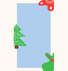 Winter social media simple story template vector