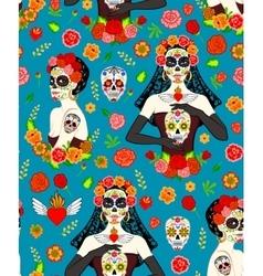 Women Dia Los Muertos vector