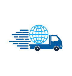 world delivery logo icon design vector image