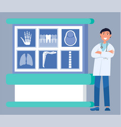 X-ray diagnostic doctor research clinic vector