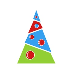 Creative Christmas tree for greeting card vector image vector image