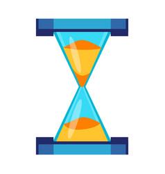 Sand clock time measurement instrument vector